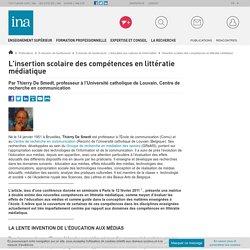 l'insertion scolaire des compétences en littératie médiatique / E-dossier de l'audiovisuel : L'éducation aux cultures de l'information