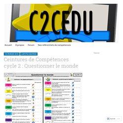 Ceintures de Compétences cycle 2 : Questionner le monde – Nos ceintures de compétences