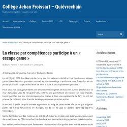 La classe par compétences participe à un « escape game » (6ème)