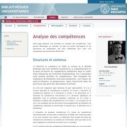 Compétences - Utiliser les référentiels ADBU et C2i / Consulté le 12/01/2017