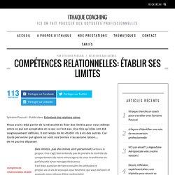 Compétences relationnelles: établir ses limites