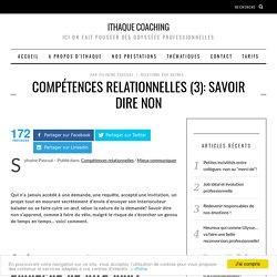 Compétences relationnelles : savoir dire non