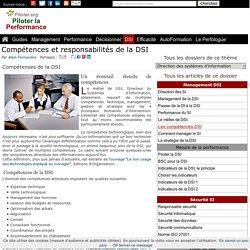 Compétences et responsabilités de la DSI