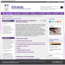 RUB. SITE Éduscol : C 6 Compétences sociales et civiques
