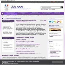 C 6 : Compétences sociales et civiques - Ressources pour les compétences sociales et civiques