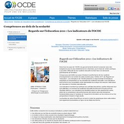 2011 : Les indicateurs de l'OCDE