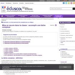 Séminaire livret personnel de compétences - Témoignage : mise en œuvre dans la classe