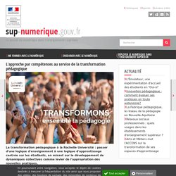L'approche par compétences au service de la transformation pédagogique (article portail SupNum DGESIP)