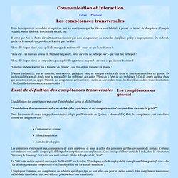 Exemples de compétences transversales