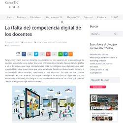 La (falta de) competencia digital de los docentes