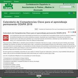 Calendario de Competencias Clave para el aprendizaje permanente CEAPA 2016