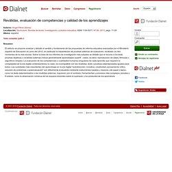 Reválidas, evaluación de competencias y calidad de los aprendizajes - Dialnet
