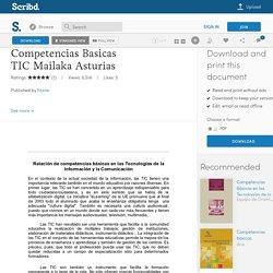 Competencias Basicas TIC Mailaka Asturias