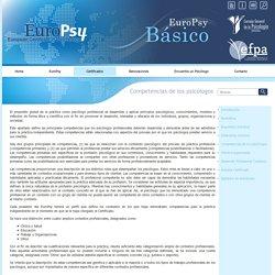 Certificado Europeo de Psicología