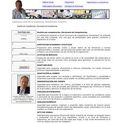 Gestión por competencias. Diccionario de Competencias.
