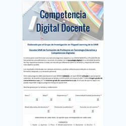 Competencias Digitales Docentes. Blogs
