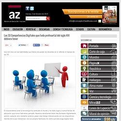 Las 33 Competencias Digitales que todo profesor(a) del siglo XXI debiera tener