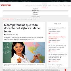 5 competencias que todo docente del siglo XXI debe tener