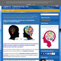 ¿Cuáles son las competencias esenciales para ser emocionalmente inteligente?, Interesante Infografía. ~ Capacity: Palabras con voz...