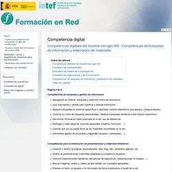 Competencias digitales del docente del siglo XXI - Competencias de búsqueda de información y elaboración de materiales