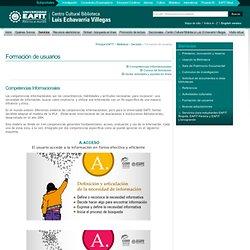 Competencias Informacionales - Servicios - Centro Cultural Biblioteca Luis Echavarría Villegas