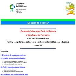 Perfil y competencias del docente en el contexto institucional educativo