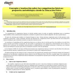 Concepto y teorización sobre las competencias básicas: propuesta metodológica desde la Educación Física