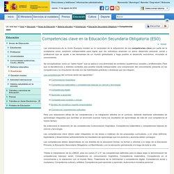 Competencias clave en la Educación Secundaria Obligatoria (ESO)