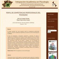 PERFIL DE COMPETENCIAS PROFESIONALES DEL PSICÓLOGO