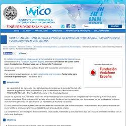 Competencias transversales para el desarrollo profesional - Edición 5 (2015) - Fundación Vodafone España