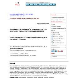 PROGRAMA DE FORMACIÓN DE COMPETENCIAS DIGITALES EN DOCENTES UNIVERSITARIOS