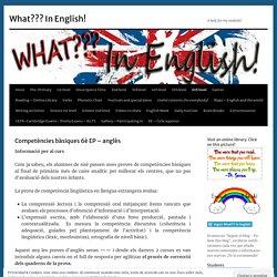 Competències bàsiques 6è EP – anglès