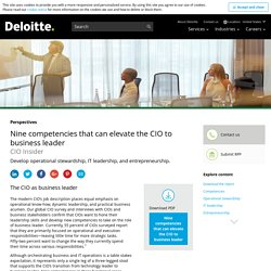 Nine competencies that elevate the CIO to business leader