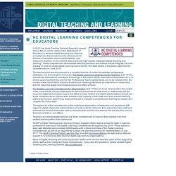 NC Digital Learning Competencies for Educators