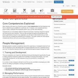 3.7.3 - Core Competencies Explained