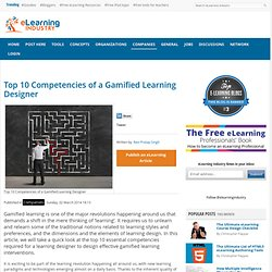 Top 10 Competencies of a Gamified Learning Designer