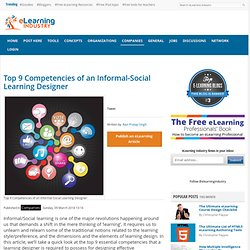 Top 9 Competencies of an Informal-Social Learning Designer