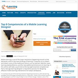 Top 8 Competencies of a Mobile Learning Designer