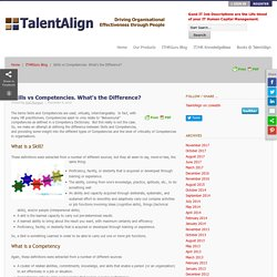 Skills vs Competencies. What's the Difference? - TalentAlign