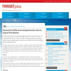Essential skills and competencies: be on top of the basics