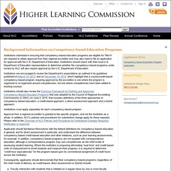 Competency-based Education Programs
