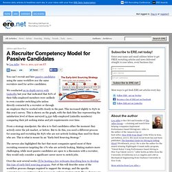 A Recruiter Competency Model for Passive Candidates