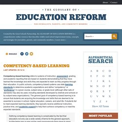 Competency-Based Learning Definition - The Glossary of Education Reform