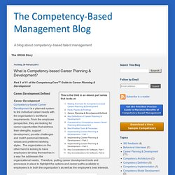What is Competency-based Career Planning & Development?