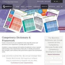 Competency Library and Dictionary