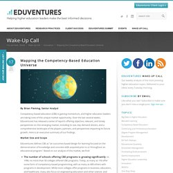 Mapping the Competency-Based Education Universe