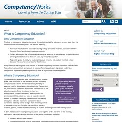 Competency Education