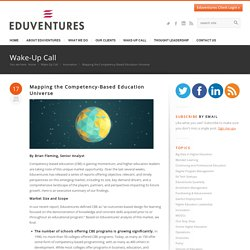 Mapping the Competency-Based Education Universe - Eduventures