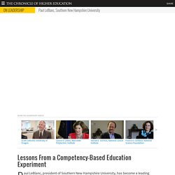 Video: Lessons From a Competency-Based Education Experiment - Leadership & Governance
