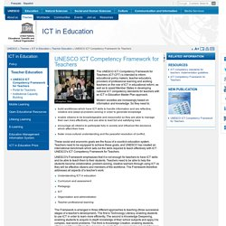 ICT Competency Framework for Teachers